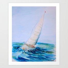 Sailboat Watercolor Art Print