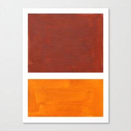 Burnt Sienna Yellow Ochre Rothko Minimalist Mid Century Abstract Color Field Squares Canvas Print