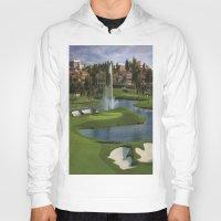 golf Hoodies featuring GOLF COURSE by aztosaha