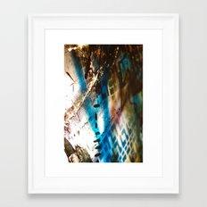 Retrollage 9.. Framed Art Print