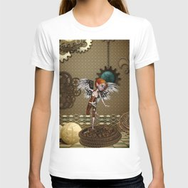 Cute little steampunk girl with wings T-shirt