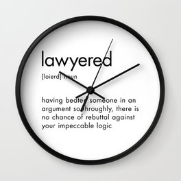 Lawyered Definition Quote Sign, Dictionary Art Definition Wall Clock