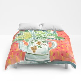 Think Happy Floral Comforters