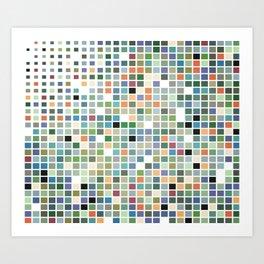 RAINBOW TILES Abstract Art Art Print