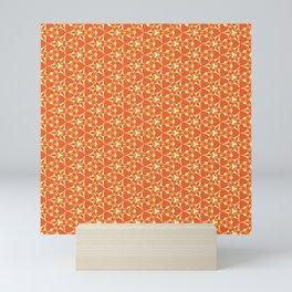 Bright Orange Geometrical Pattern Mini Art Print