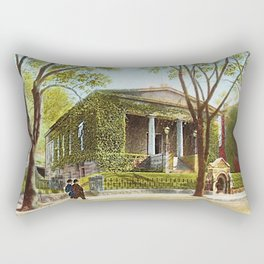 Providence Athenæum Library - Benefit Street - Providence, R.I. Landscape by Jeanpaul Ferro Rectangular Pillow
