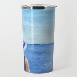 Girl at the sea Travel Mug