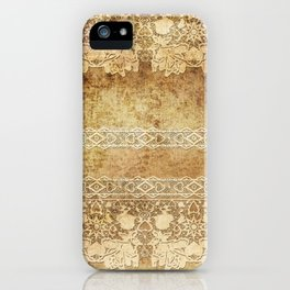 Vintage. The old lace. Vintage fabric . iPhone Case