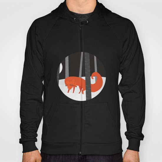 Winter Fox Vertical Hoody