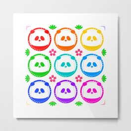 The Colourful Pandas, The Colourful Pandas! Metal Print
