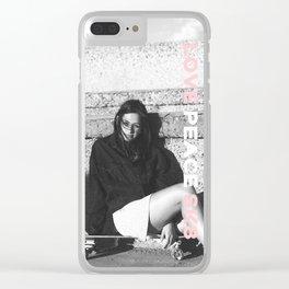 Love Peace Sk8 #2 Clear iPhone Case