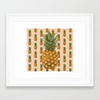 pineapples Framed Art Prints featuring Pineapples by Brocoli ArtPrint