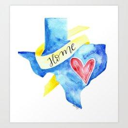 Texas: Home Art Print