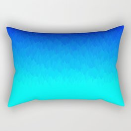 Blue ombre flames Rectangular Pillow