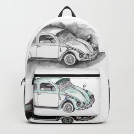 Classic mint green beetle automovil composition Backpack