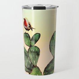Cactus and a Bird Travel Mug