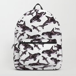 Watercolor Orca's Backpack
