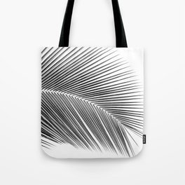 Palm leaf - bw Tote Bag