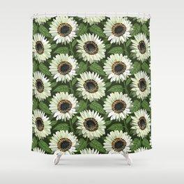 Venidium Zulu Warrior Flowers (White Monarch of The Veldt) Shower Curtain
