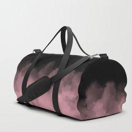 Black with Pink Smoke Minimal Duffle Bag