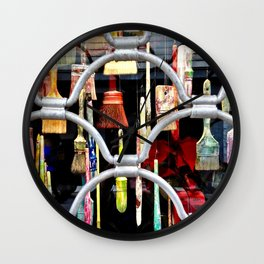 brushes in color Wall Clock