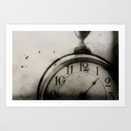 Antique Clock Art Print