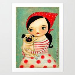 Pug by tascha Art Print