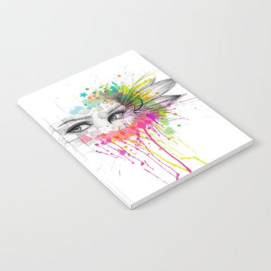 Beautiful Flower Eyes Notebook