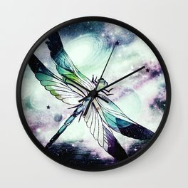 space dragonfly Wall Clock