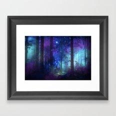 Out of the dark mystic light Framed Art Print