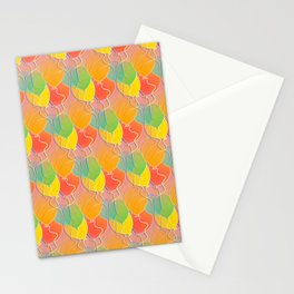 Multicolored Balloons Pattern Stationery Cards
