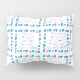 je t'aime 6-i love you,je t'aime,te amo,te quiero,ich liebe dich,love,romantism,romantic,heart,cute Pillow Sham