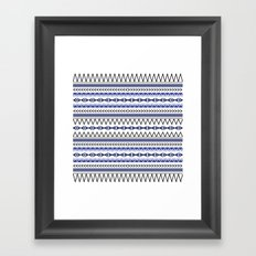 Tribal Blue Framed Art Print