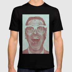 Patrick Bateman - The Hipster (Feat. Marta Macedo) Black LARGE Mens Fitted Tee
