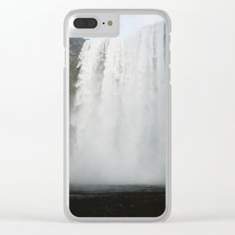 Skógafoss, Iceland Clear iPhone Case