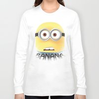 minion Long Sleeve T-shirts featuring Minion by ellyonart