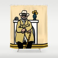 matisse Shower Curtains featuring henri matisse (portrait) by jenapaul