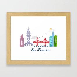what a colorful city San Francisco, CA. v2. Framed Art Print