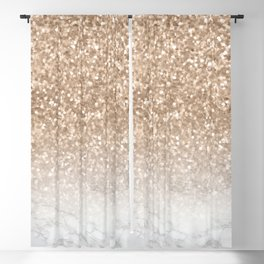 Pretty Gold Marble Sparkle Blackout Curtain