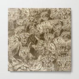 Catrina in Sepia Metal Print