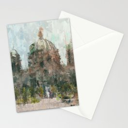 Berlin Cathedral Painting /  impressionism style Illustration - Berliner Dom Stationery Cards
