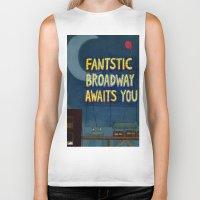 broadway Biker Tanks featuring Fantastic Broadway Awaits You by Aram Kim