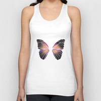 techno Tank Tops featuring Techno Butterfly by miss ninja cookie