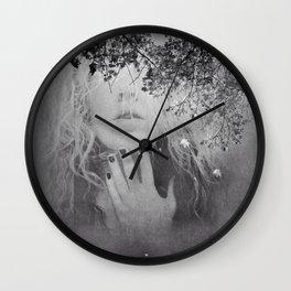 Soul - surreal dreamy portrait, woman nature photo, spiritual portrait Wall Clock