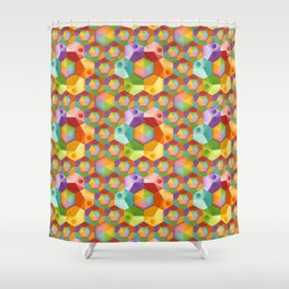 Rainbow Hexagons Shower Curtain