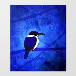 Ultramarine Kingfisher (Todiramphus leucopygius) Canvas Print