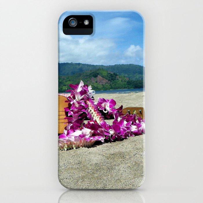 Ukulele at the bay iPhone Case