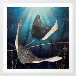 Metallic Stingray Art Print