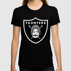 Taunters MEDIUM Womens Fitted Tee Black