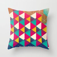 scales Throw Pillows featuring Scales  by sixsixtysix